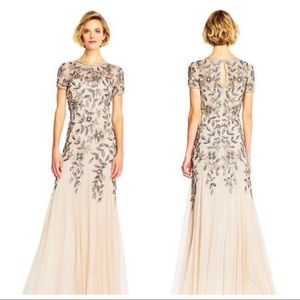 Adrianne Papell Beaded Evening Gown